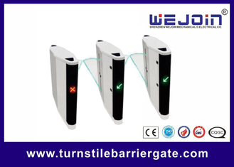 Intelligent access high speed retractable flap turnstile barrier gate