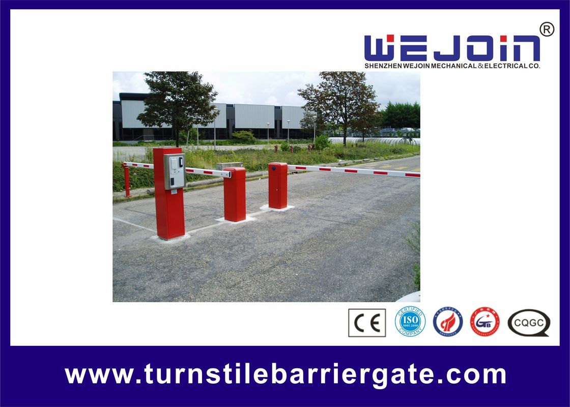 Straight Boom Automatic Car Park Barrier Gate Arms 8m Boom Length Aluminum Barrier pemasok