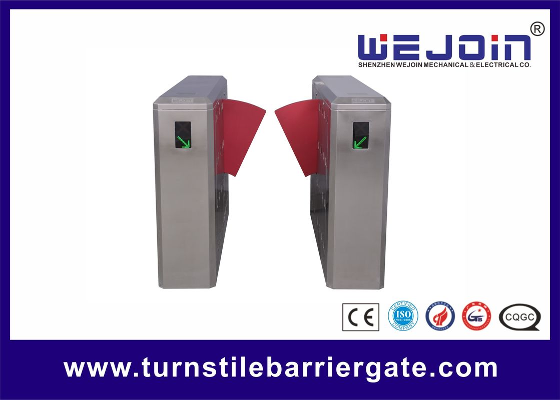 Half Height Safety Access Control Speed ​​Gate Turnstile, Flap Barrier Gate pemasok