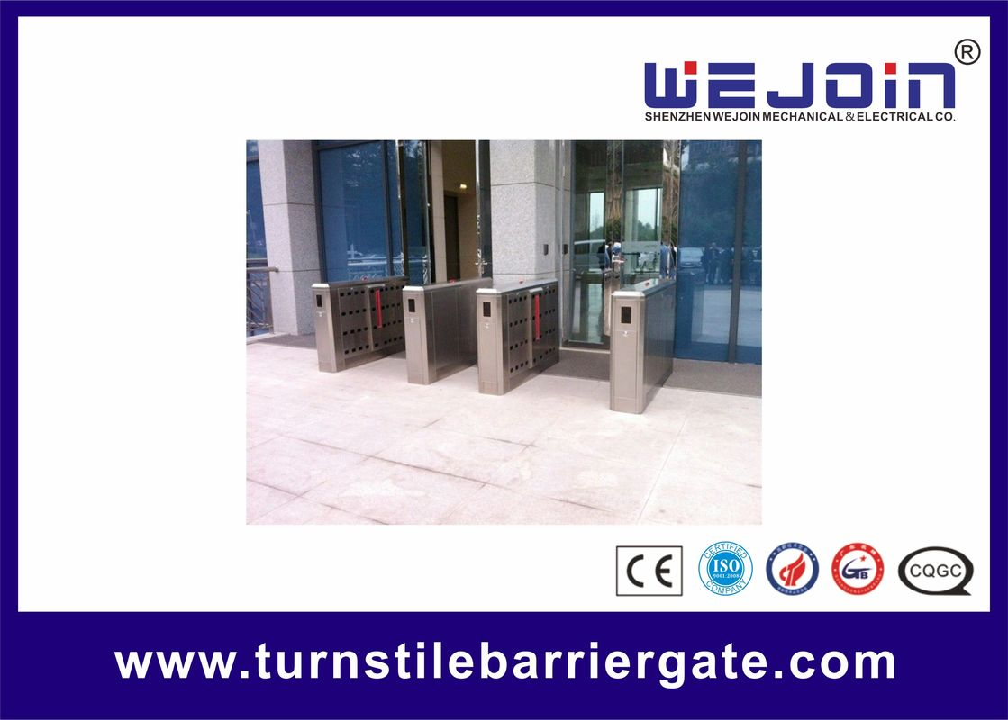 110V Stainless Steel Full-automatical Flap Barrier Gate With Auti-collision function pemasok