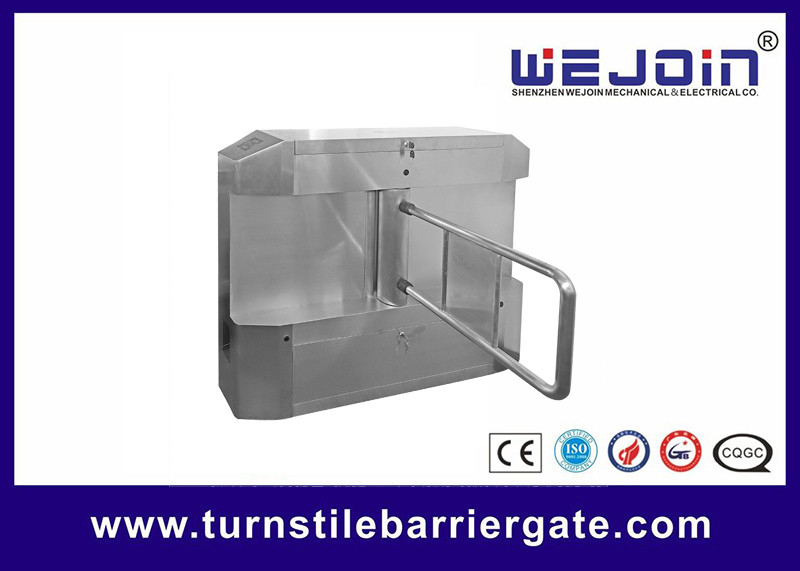 Acrylic plate Arm Turnstile Entry Swing Barrier Gate Systems With Dry Contact Interface pemasok